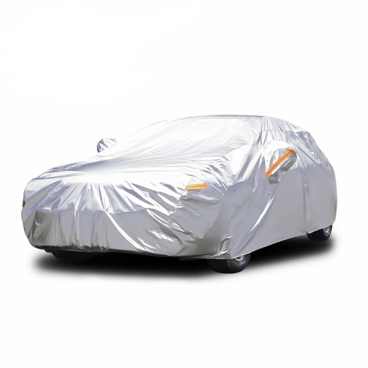 Audew 6 Layer Premium anti-UV Car Cover For Sedan, Mid-Size SUV Up To 190""