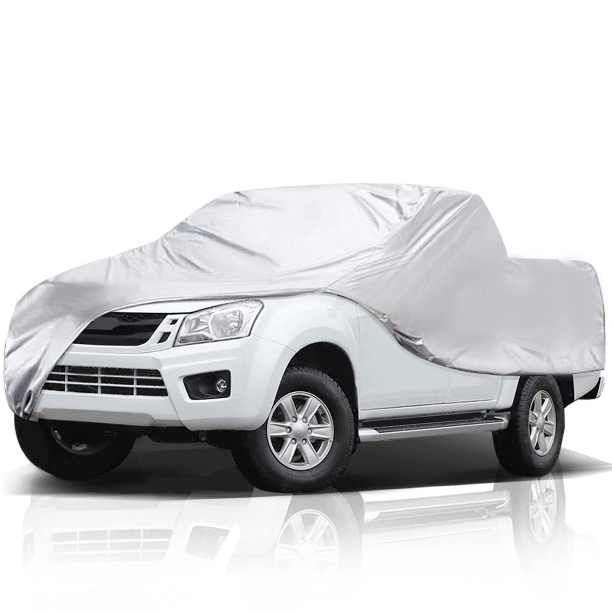 Audew 6 Layers Waterproof Car Cover, Full Cover For Truck Up To 246''