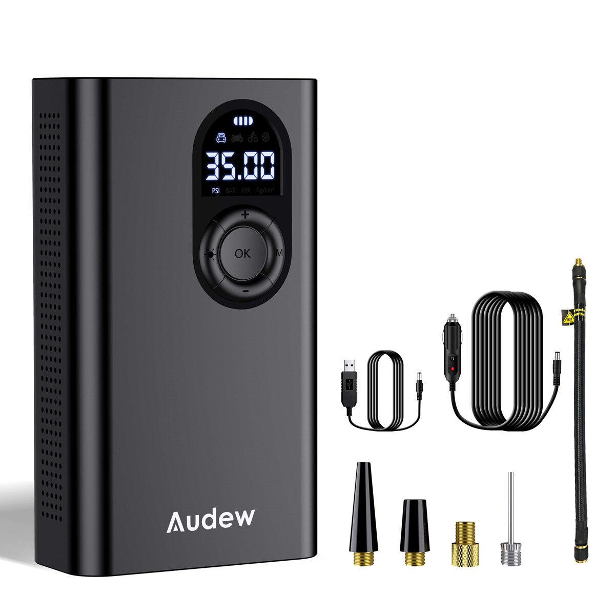 Audew Portable Air Pump 12V 150PSI Mini 3 * 2000mAh Capacity Rechargeable Electric Air Pump