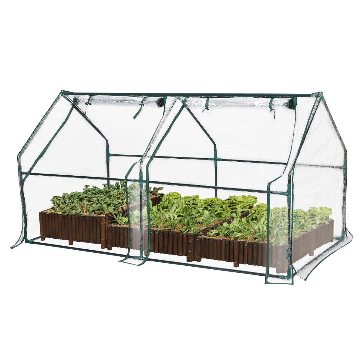 tooca Audew Mini Greenhouse For Raised Garden Bed, Indoor and Outdoor Gardens/Patios/Backyards