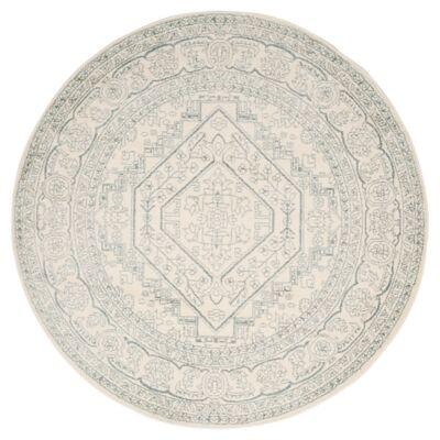 Ashley Furniture Accessory 6' x 6' Round Rug, Gray/White