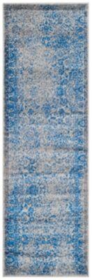 "Ashley Furniture Accessory 2'6"" x 12' Runner Rug, Blue/Gray"