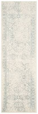 "Ashley Furniture Accessory 2'6"" x 10' Runner Rug, Gray/White"