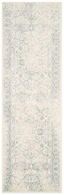 "Ashley Furniture Accessory 2'6"" x 4' Runner Rug, Gray/White"