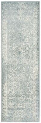 "Ashley Furniture Accessory 2'6"" x 6' Runner Rug, Gray/White"