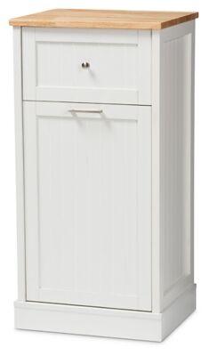 Ashley Furniture Modern Kitchen Cabinet, White/Oak