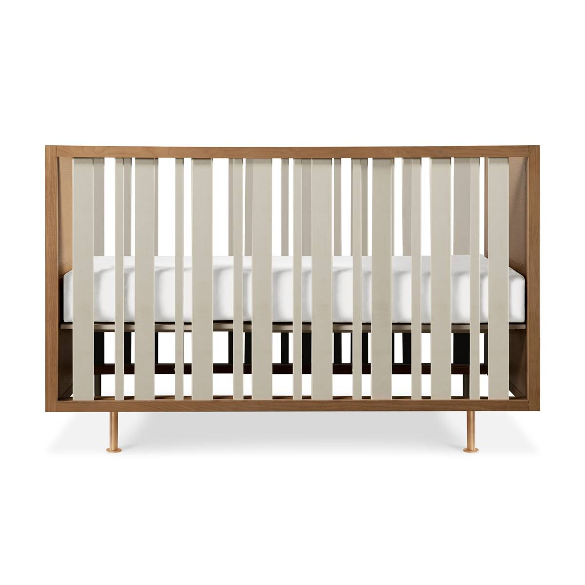 Nursery Works Novella Crib (Color: Stained Ash/Ivory)