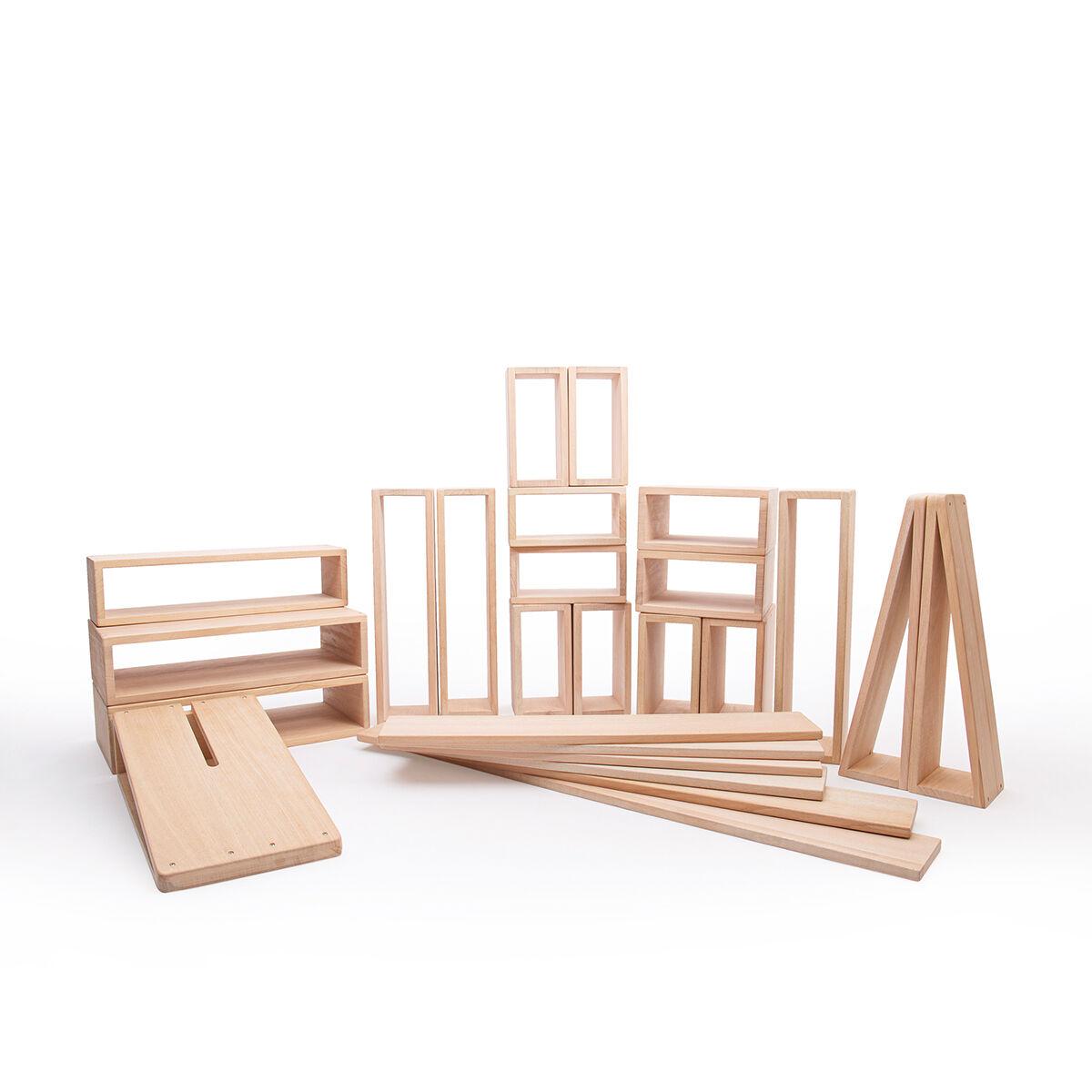 Guidecraft Outdoor Wooden Hollow Blocks