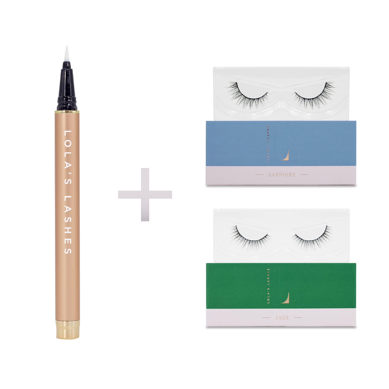 Lola's Cosmetics Natural Touch Flick & Stick Lash Kit - Black Pen