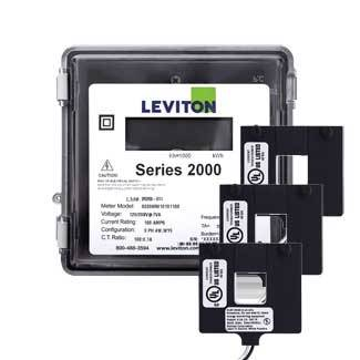 Leviton 2O480-4W VerifEye Series 2000 3P/4W Outdoor Meter Kit with 3 Split-Core Current Transformers