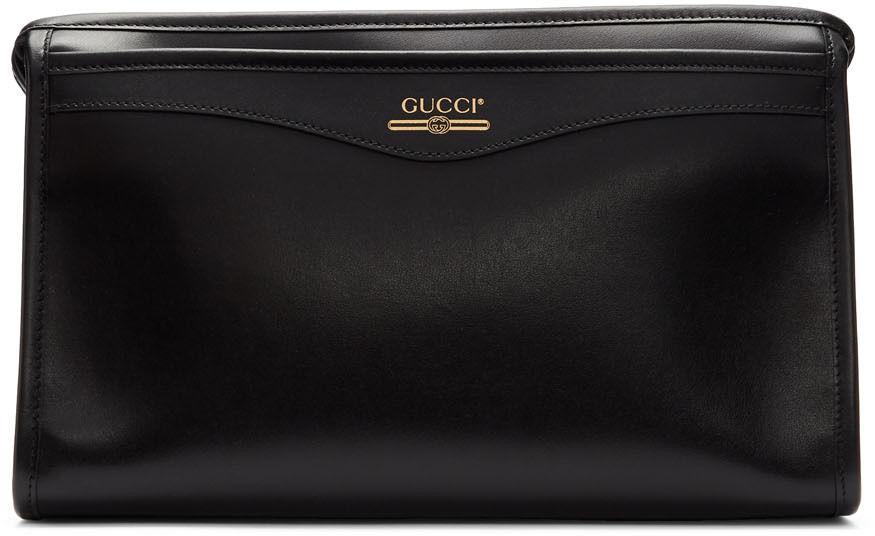Gucci Black Cosmetics Pouch  - 1000 BLACK - Size: UNI