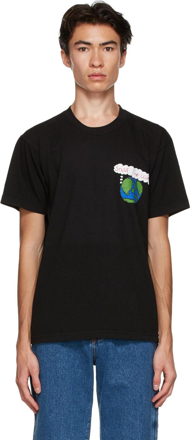 Kids Worldwide Black 'Save The World' T-Shirt  - BLACK - Size: Extra Small