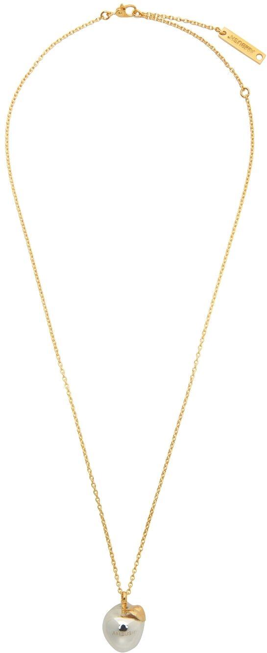 AMBUSH Silver Apple Charm Necklace  - SILVER - Size: UNI