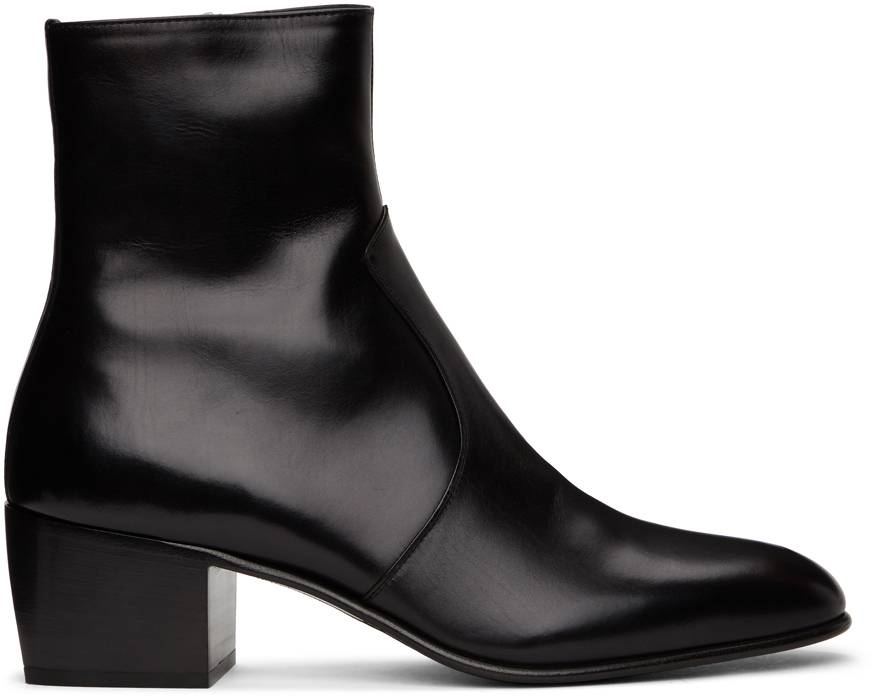 Saint Laurent Black James Boots  - 1000 BLACK - Size: 45.5