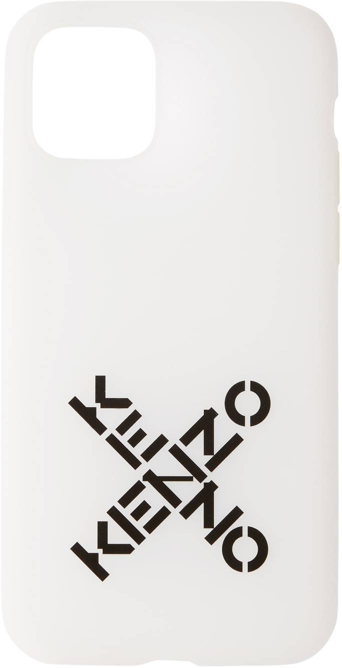 Kenzo White Sport Logo iPhone 11 Pro Case  - 01 - WHITE - Size: UNI