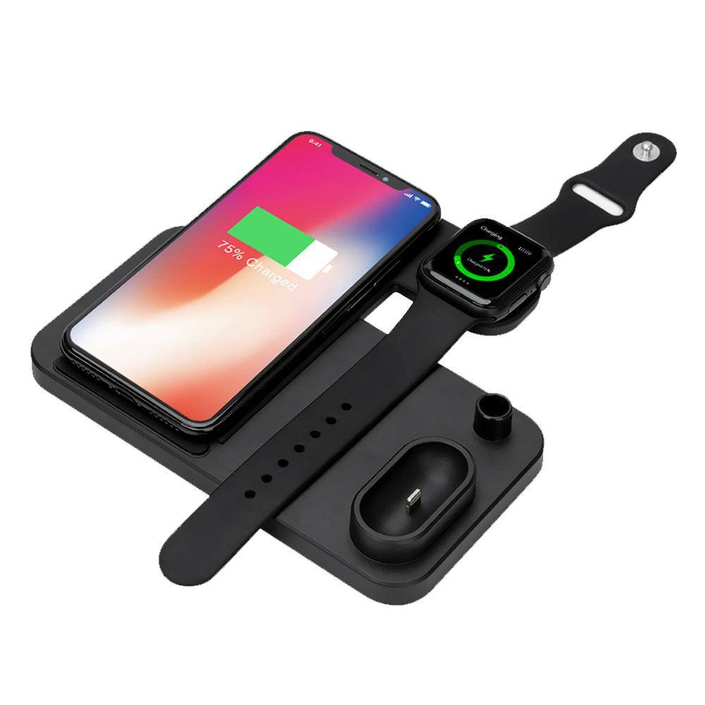 4-in-1 iPhone, Apple Watch, AirPods, Apple Pencil Wireless Qi Charger