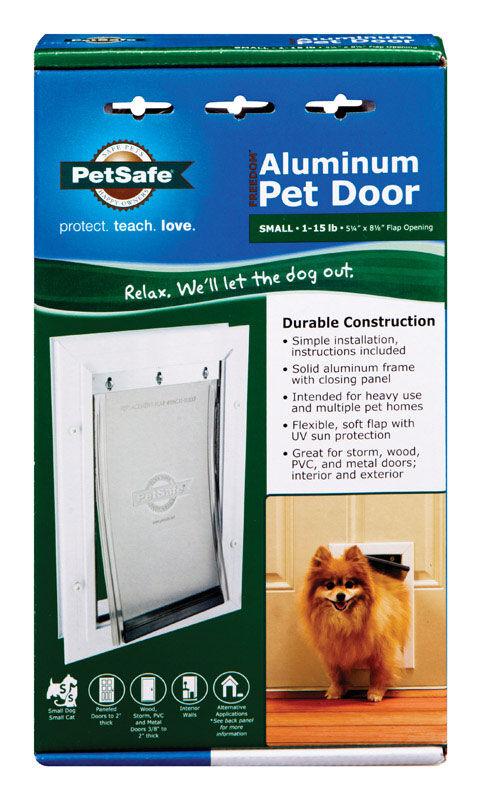 Petsafe 11.625 in. H X 7-3/4 in. W Aluminum Pet Door