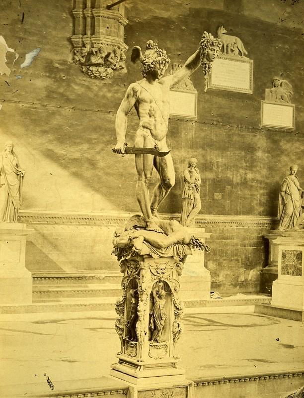Dell Firenze Loggia dell Orgagna Italy Old Albumen Photo 1880 ANONYMOUS [ ]
