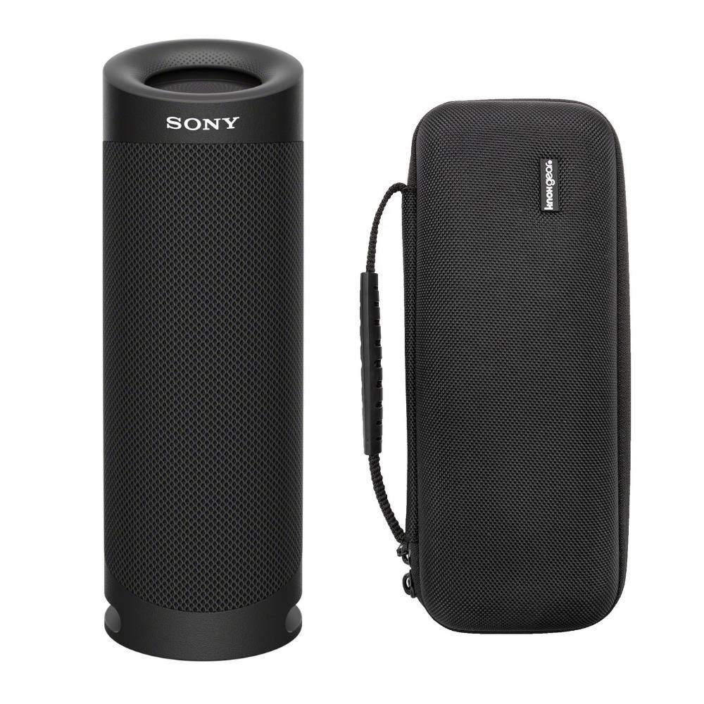 Sony SRSXB23 EXTRA BASS Bluetooth Wireless Portable Speaker with Protective Case in Black
