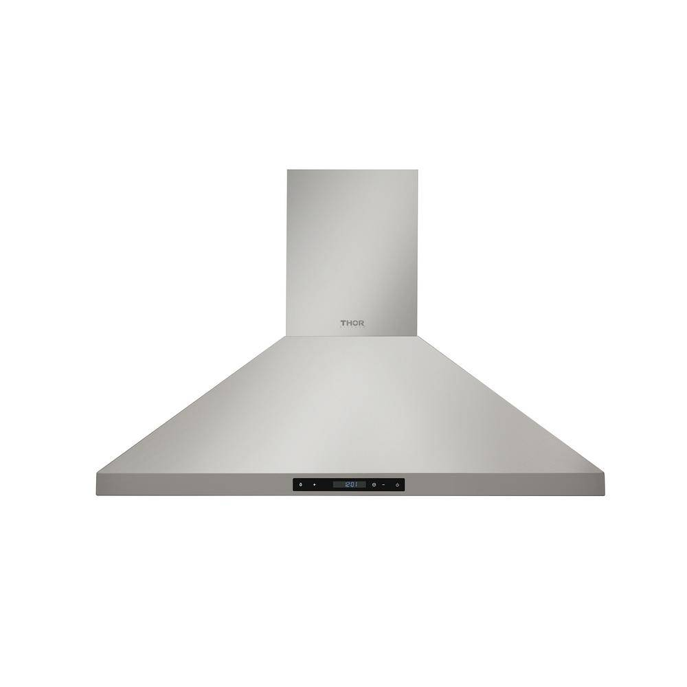 Kitchen 36 in. Wall Mount LED Light Range Hood in Stainless Steel, Silver