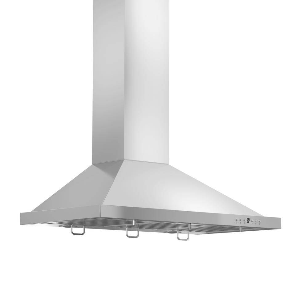 ZLINE Kitchen and Bath 48 in. Convertible Vent Outdoor Approved Wall Mount Range Hood in Stainless S