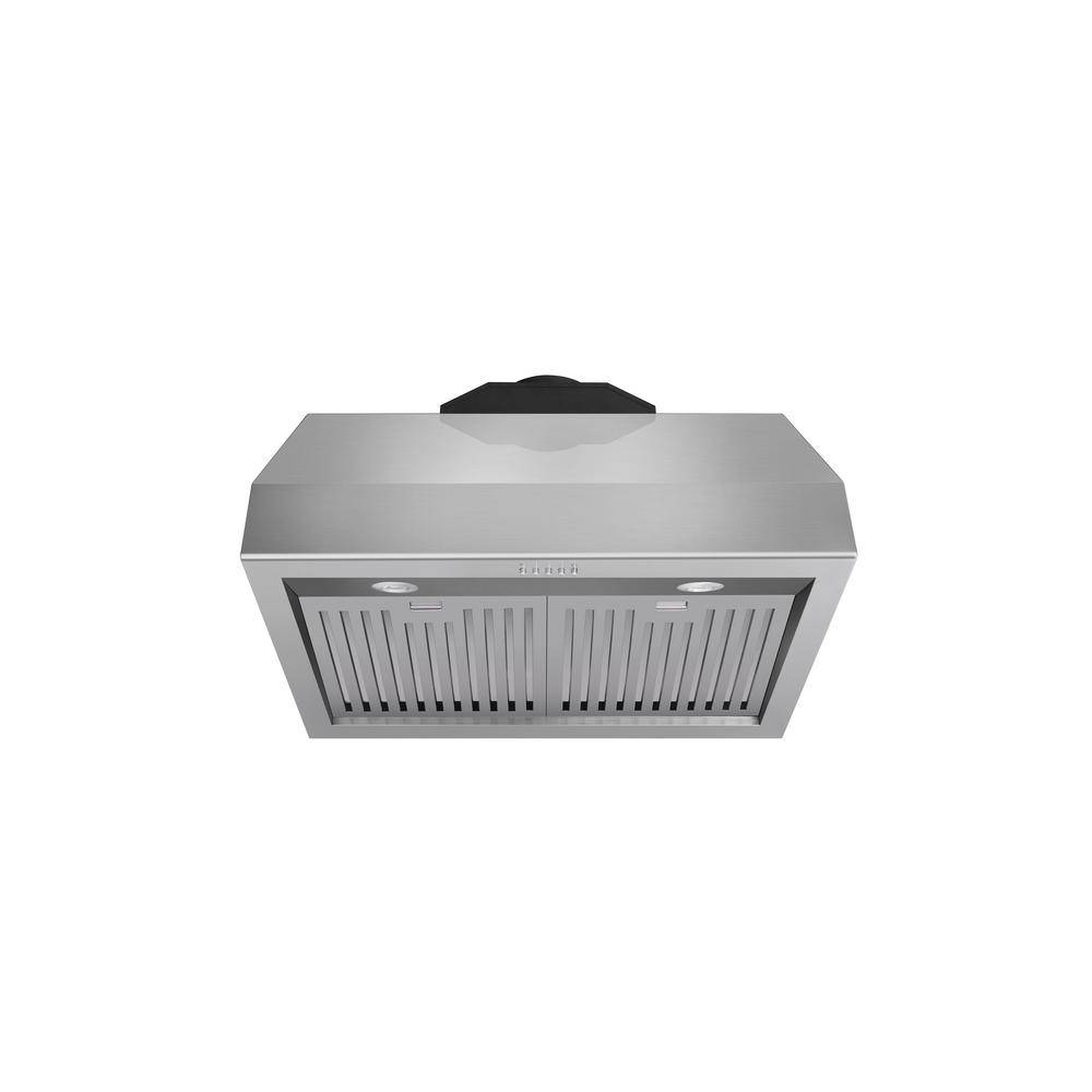 Kitchen 30 in. Tall Undercabinet Range Hood with Light in Stainless Steel, Silver