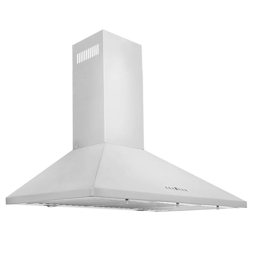 ZLINE Kitchen and Bath 36 in. Convertible Vent Wall Mount Range Hood in Stainless Steel (KL2-36), Br