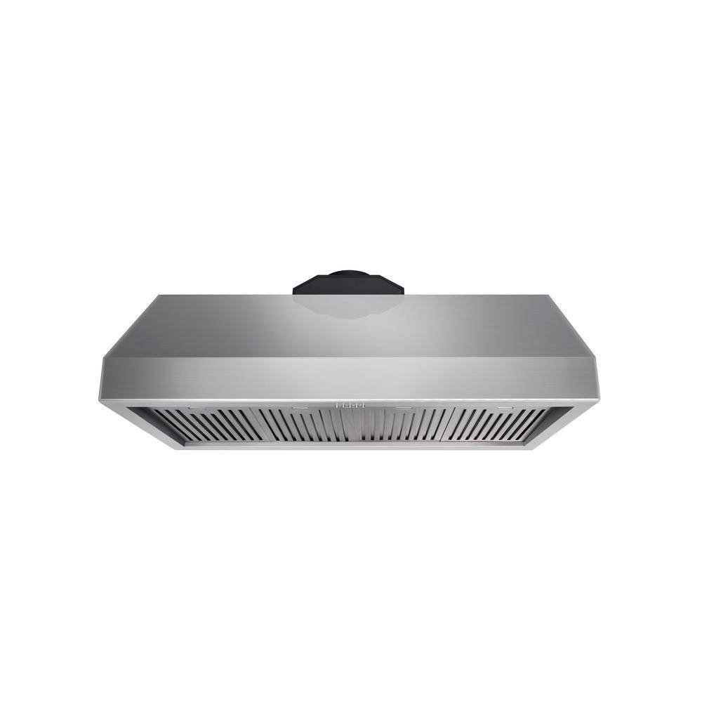 Kitchen 48 in. Tall Undercabinet Range Hood with Light in Stainless Steel, Silver