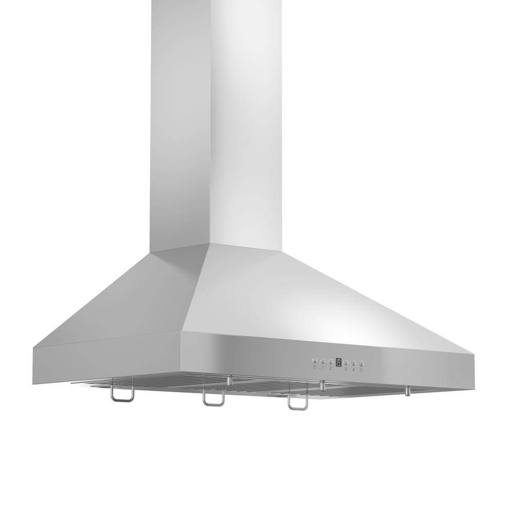 ZLINE Kitchen and Bath 30 in. Convertible Vent Wall Mount Range Hood in Stainless Steel with Crown M
