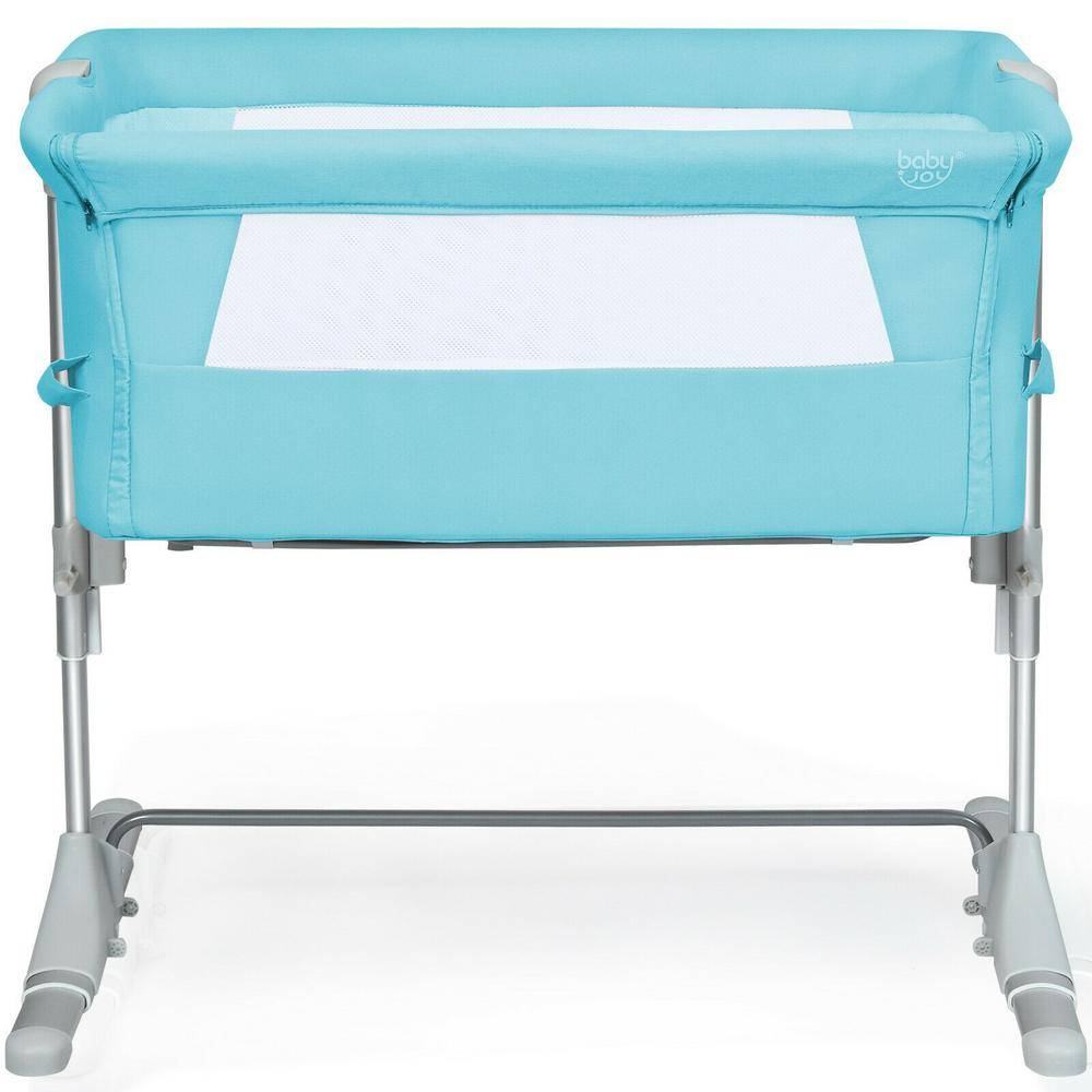Boyel Living Green Portable Baby Bed Side Sleeper Bassinet Crib with Carrying Bag