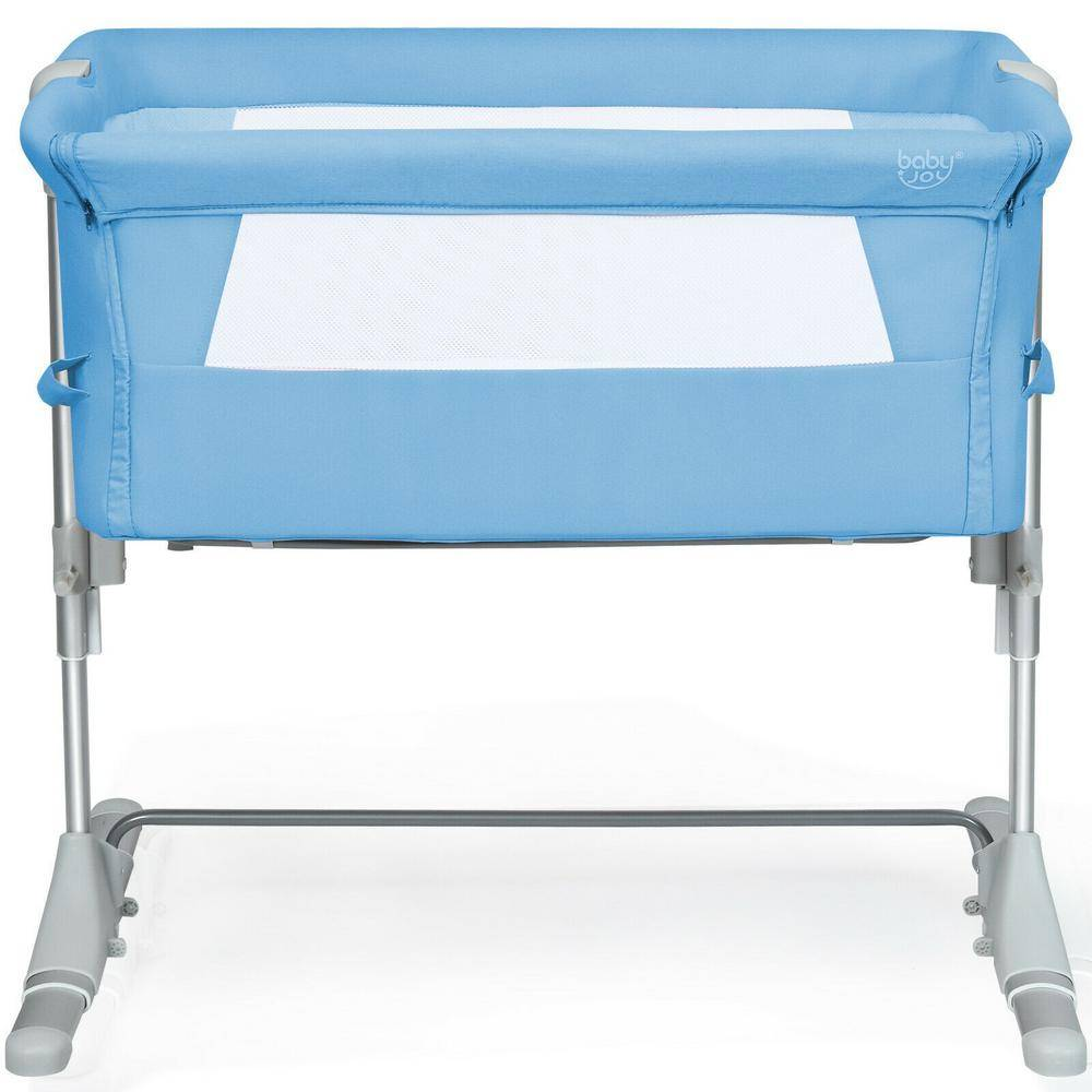 Boyel Living Blue Portable Baby Bed Side Sleeper Bassinet Crib with Carrying Bag