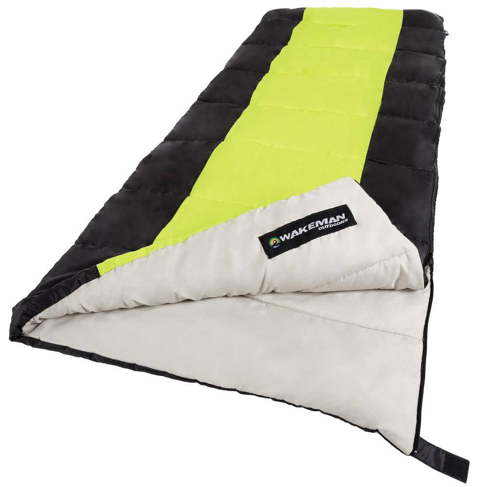 Garden 2-Season Otter Tail Sleeping Bag with Carrying Bag in Neon Green
