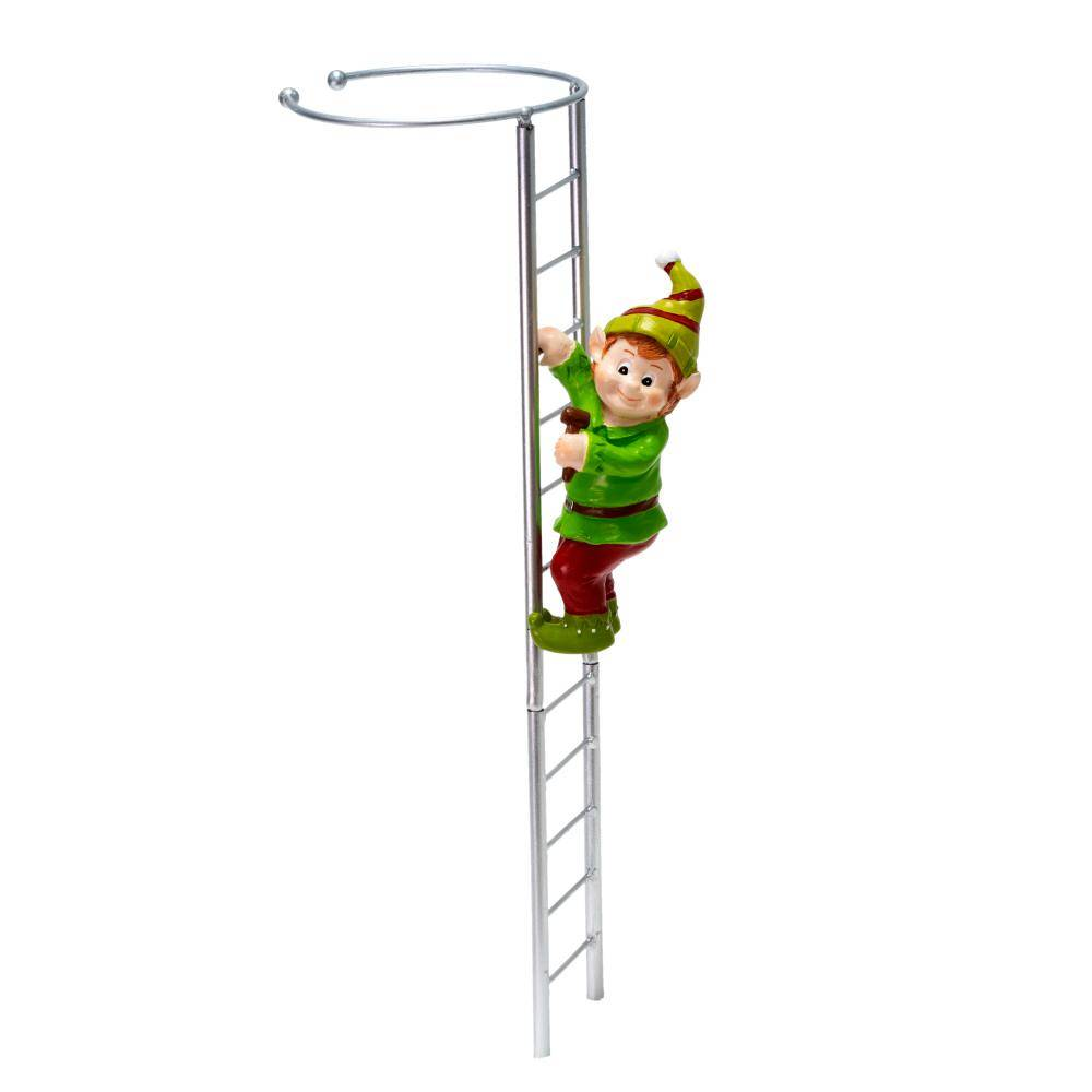 Gardens Alive! Elf and Ladder Amaryllis Stake, A Decorative Way to Support Your Amaryllis (1-Pack)