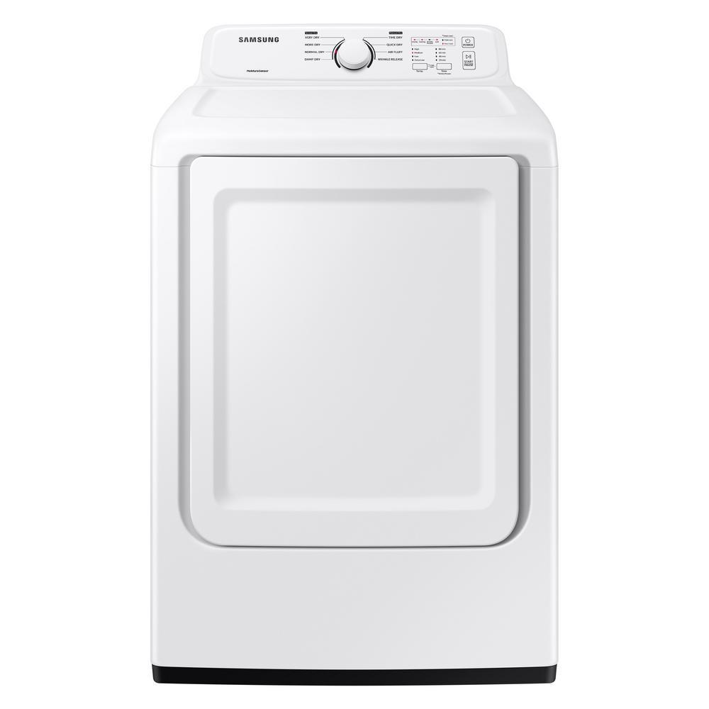 Samsung 7.2 cu. ft. 120-Volt White Gas Dryer with Sensor Dry