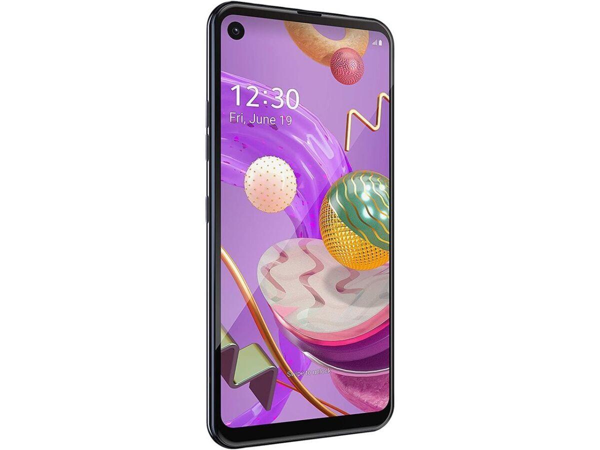 LG Electronics LMQ620QM.AUSAMB 6.4 in. 64GB RAM Q70 4G LTE Unlocked Cell Phone, Black