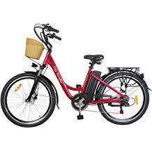 NAKTO StrollerRed 26 in. City Electric Bicycle Stroller, Red