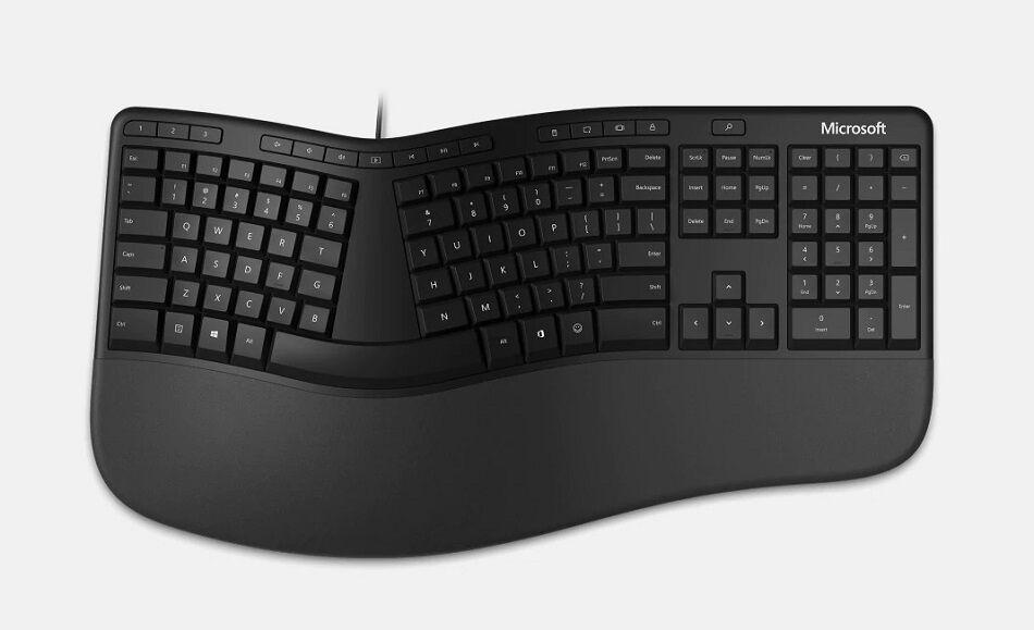 Microsoft LXN-00001 Ergonomic Keyboard for Windows32 USB