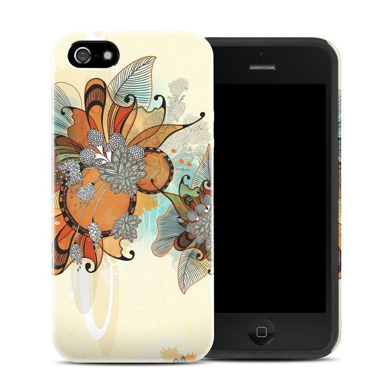 DecalGirl AIPSEHC-SSFLOWERS Apple iPhone SE Hybrid Case - Sunset Flowers