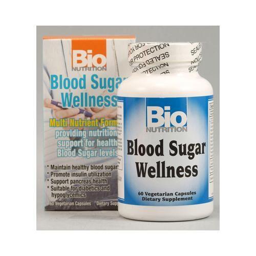 bio nutrition Inc Bio Nutrition HG1029511 Blood Sugar Wellness - 60 Vegetarian Capsules