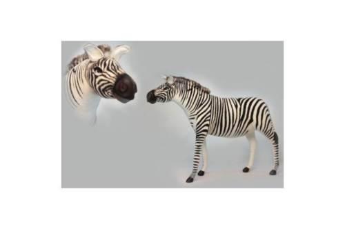Hansa 6568 Jacquard Zebra Plush Toy - 57.5 L x 44.5 H in.