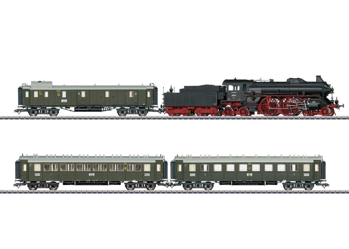 Marklin MRK26607 Express Gray HO Scale Train & Tracks Set