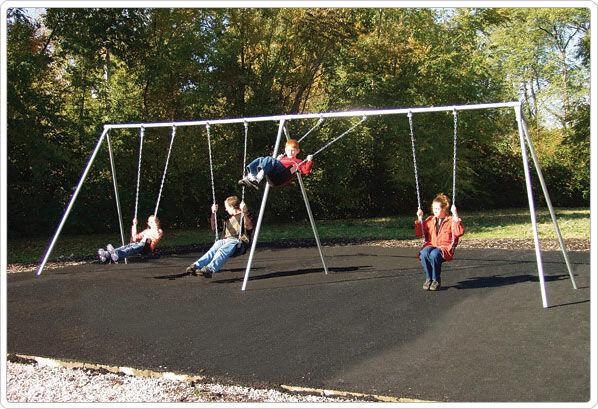 SportsPlay 581-418F 8 ft. 4 Seat Primary Bipod Swing Frame & Hanger