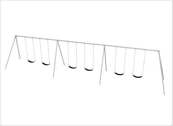 SportsPlay 581-618M 8 ft. 6 Seat Primary Bipod Swing Frame