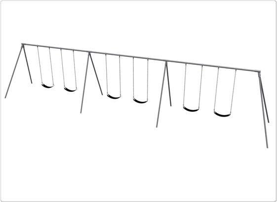 SportsPlay 581-618xM 10 ft. 6 Seat Primary Bipod Swing Frame