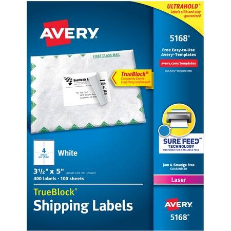Shipping Labels, Sure Feed, 3-1/2