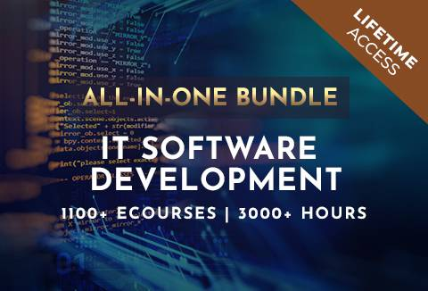 IT Software Development All-In-One Bundle With 1100+ eCourses / Lifetime