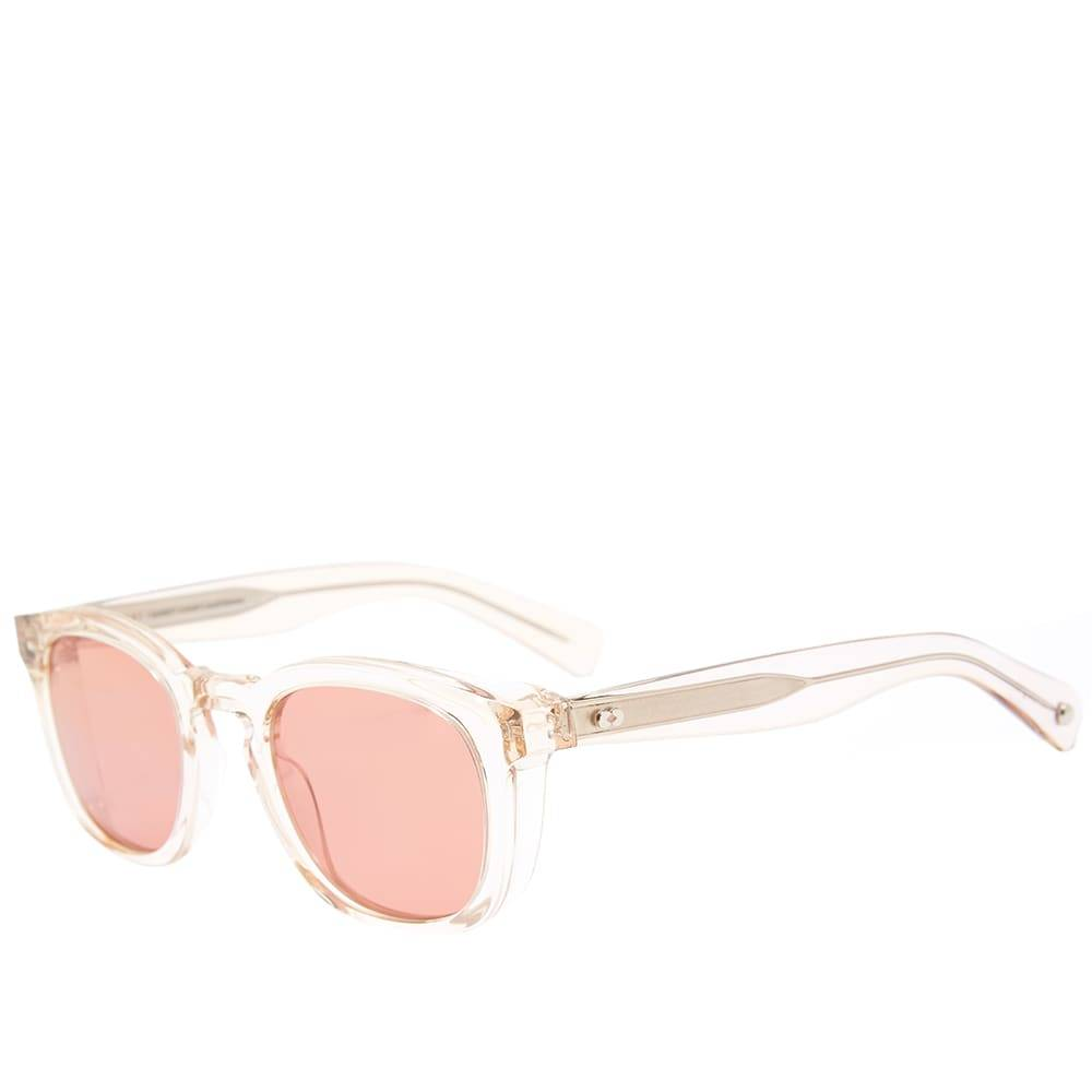 Garrett Leight Kinney 48 Sunglasses  Shell Crystal & Sweetwater