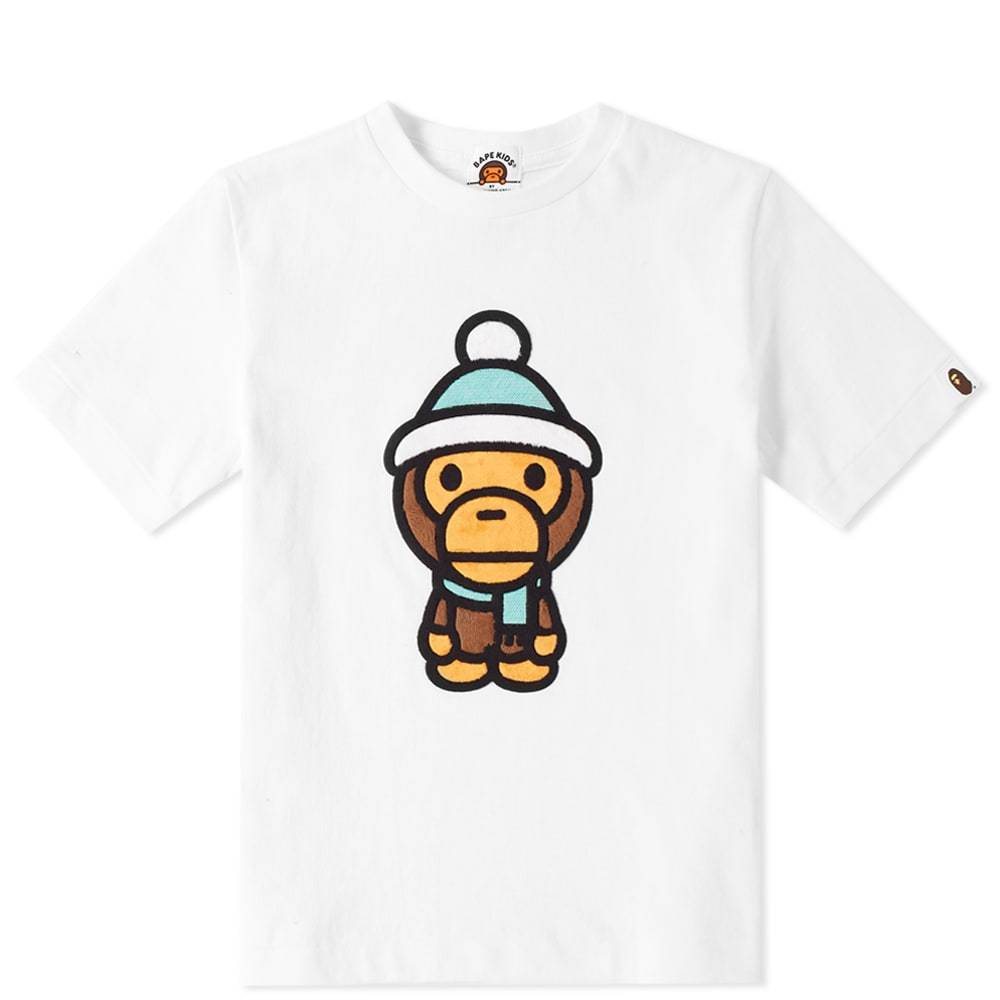 A Bathing Ape Kids Boa Milo Winter Tee  White