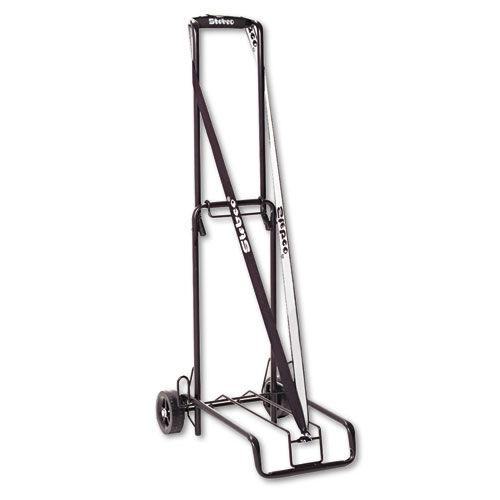 BOND STREET 390002BLK Luggage Cart, 125lb Capacity, 13 x 10 Platform, Black Steel