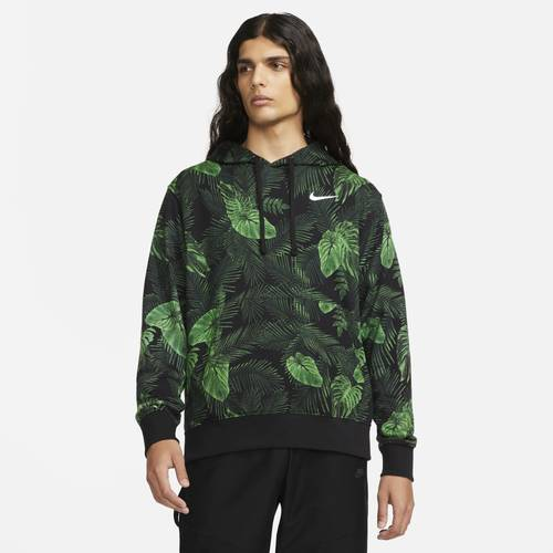 Mens Nike Pullover Fashion Hoodie - Mens Green/Black Size S